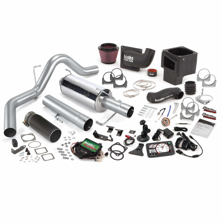 Stinger Bundle Power System W/Single Exit Exhaust Black Tip 5 Inch Screen 06-07 Dodge 325hp CCLB Banks Power