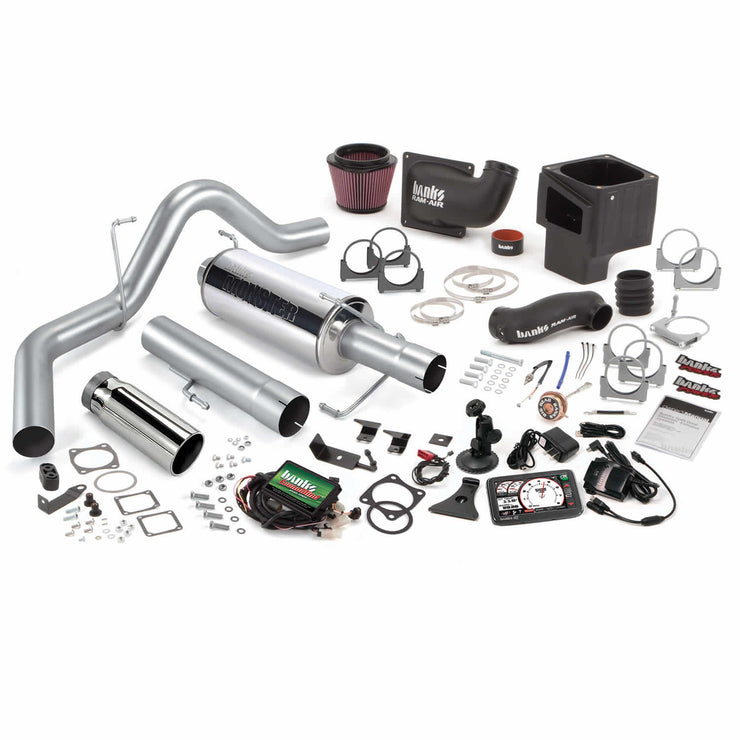 Stinger Bundle Power System W/Single Exit Exhaust Chrome Tip 5 Inch Screen 06-07 Dodge 325hp CCLB Banks Power