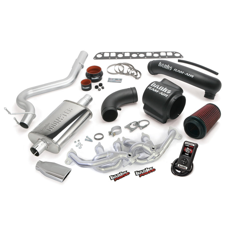 PowerPack Bundle Complete Power System W/AutoMind Programmer Chrome Tip 00-03 Jeep 4.0L Wrangler Banks Power