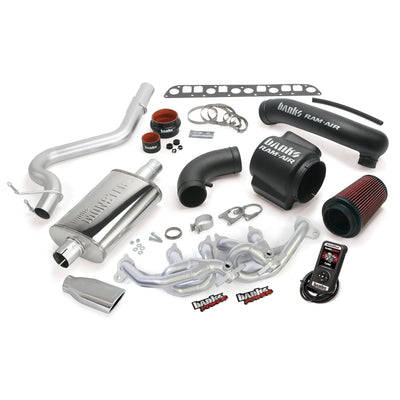 PowerPack Bundle Complete Power System W/AutoMind Programmer Chrome Tip 04-06 Jeep 4.0L Wrangler TJ Banks Power