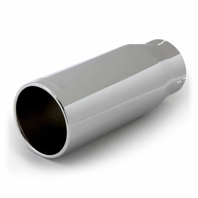 Tailpipe Tip Kit Round Straight Cut Chrome 4 Inch Tube 5 Inch X 12.5 inch Banks Power