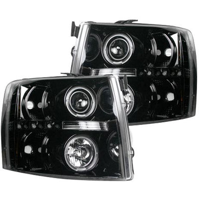 RECON 264195BKCC SMOKED PROJECTOR HEADLIGHTS WITH CCFL HALOS