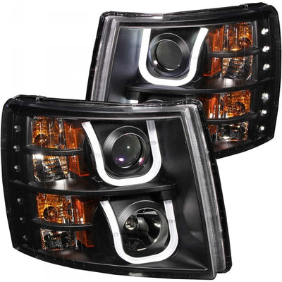 ANZO 111281 BLACK U-BAR STYLE PROJECTOR HEADLIGHTS