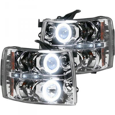 RECON 264195CLCC CLEAR PROJECTOR HEADLIGHTS WITH CCFL HALOS