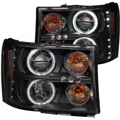 ANZO 111125 BLACK PROJECTOR HEADLIGHTS W/ CCFL HALO