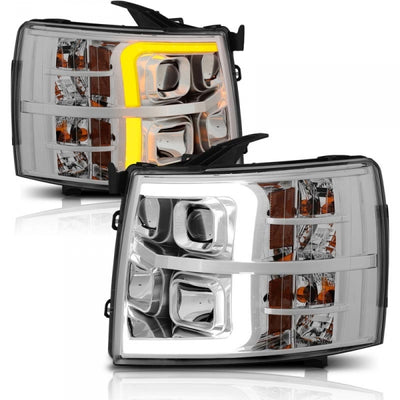 ANZO 111411 CHROME PLANK STYLE SWITCHBACK PROJECTOR HEADLIGHTS