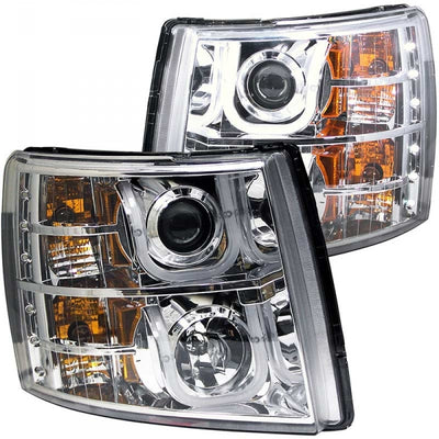 ANZO 111282 CHROME U-BAR STYLE PROJECTOR HEADLIGHTS