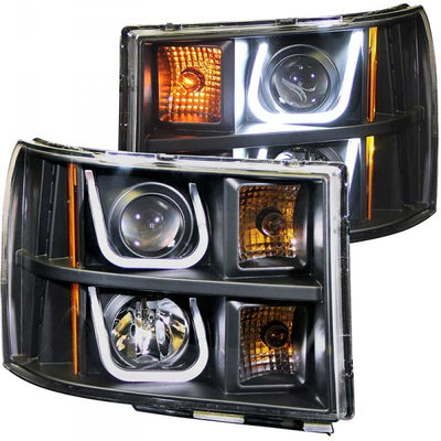 ANZO 111284 BLACK U-BAR STYLE PROJECTOR HEADLIGHTS