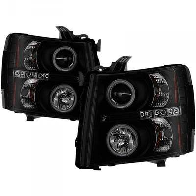 SPYDER 5078735 BLACK/SMOKE PROJECTOR HEADLIGHTS WITH CCFL HALO
