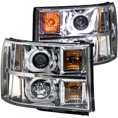 ANZO 111283 CHROME U-BAR STYLE PROJECTOR HEADLIGHTS