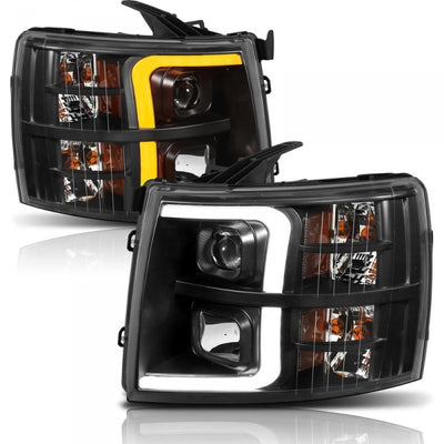 ANZO 111410 BLACK PLANK STYLE SWITCHBACK PROJECTOR HEADLIGHTS