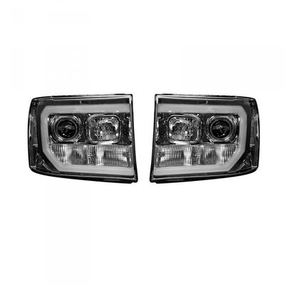 RECON 264271CLC CLEAR PROJECTOR HEADLIGHTS WITH OLED U-BAR