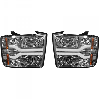 RECON 264195CLC CLEAR PROJECTOR HEADLIGHTS WITH OLED U-BAR