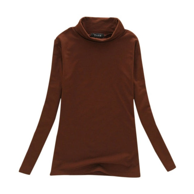 Long Sleeve Slim Turtle Neck T-Shirts