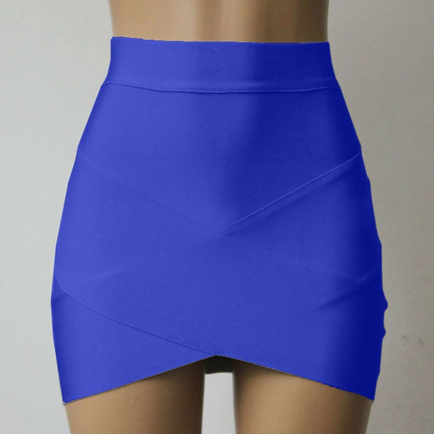 High Waist Mini Bandage Skirts