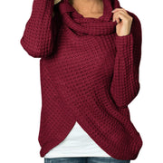 Long Sleeves Scarf Neck