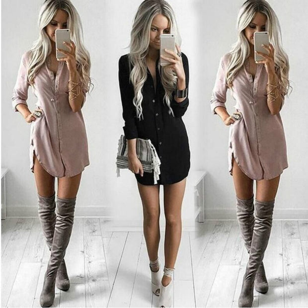 Long Sleeve Loose Chiffon