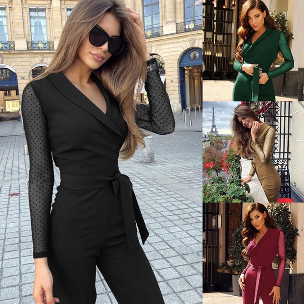 Long Sleeve Elegant Jumpsuit