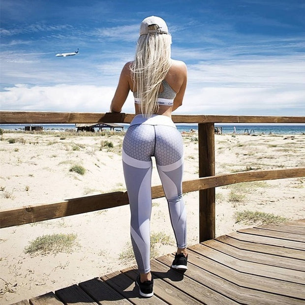 White Black Trousers Fitness