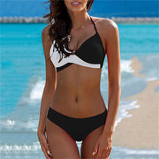 Low Waist Halter Bikini Set