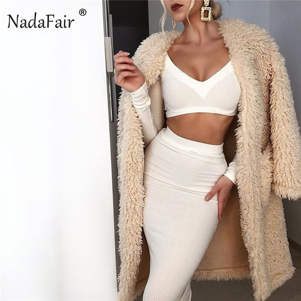 V-Neck Long Sleeve Two Piece Set