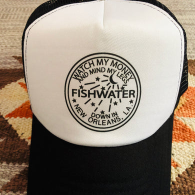 Widespread Panic Hat-Fishwater New Orleans Louisiana-Trucker Style Snapback Hat