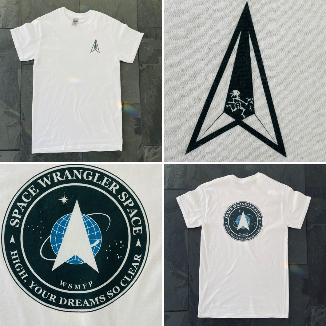 Widespread Panic Shirt-Space Wrangler Space-Adult Uni T Shirt Sizes S M L XL 2X 3X 4X 5X-White T Shirt