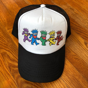 Ween Hat-Dancing Boognish Bears-Trucker Style Snapback Hat