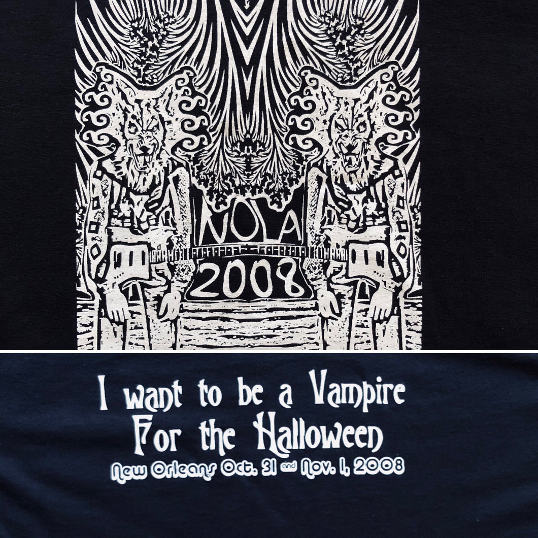 Widespread Panic Shirt-New Orleans NOLA Halloween 2008-Adult Uni T Shirt Sizes S M L XL XXL-Black T Shirt