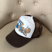 Load image into Gallery viewer, Ween Hat-The Mollusk in Brown and Blue-Trucker Style Adjustable Snapback Hat