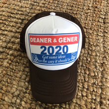 Load image into Gallery viewer, Ween Hat-Deaner and Gener for President 2020 Happy Colored Marbles-Brown Trucker Style Adjustable Snapback Hat