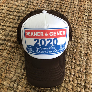 Ween Hat-Deaner and Gener for President 2020 Happy Colored Marbles-Brown Trucker Style Adjustable Snapback Hat