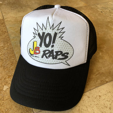 Widespread Panic Hat-Yo JB Raps-Trucker Style Snapback Hat-Black and White