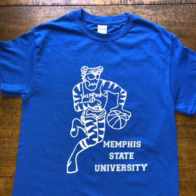 Memphis Shirt-Vintage Style Memphis State University Tigers Baseketball-Adult Uni T Shirt Sizes S M L XL XXL