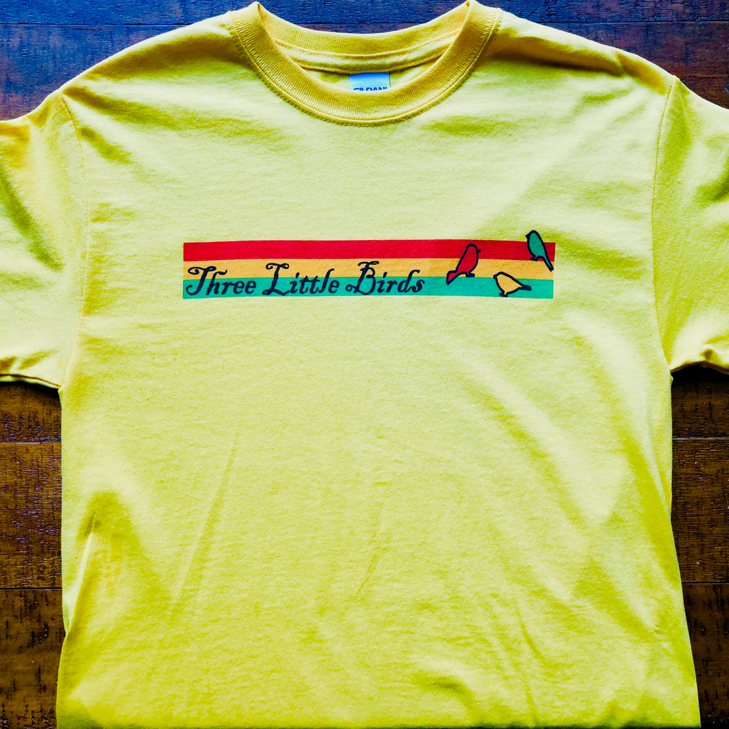 Reggae Shirt-Three Little Birds-Adult Uni T Shirt Sizes S M L XL 2XL