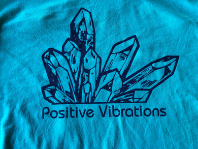 Postivie Vibrations Crystal Cluster Geology Gem and Mineral-Women's Racerback Tank Top-Sizes XS S M L XL XXL
