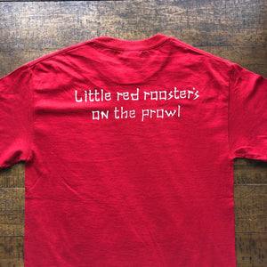 Dead Shirt-Little Red Rooster Lot Shirt-Adult Uni T Shirt Sizes S M L XL XXL-Red T Shirt