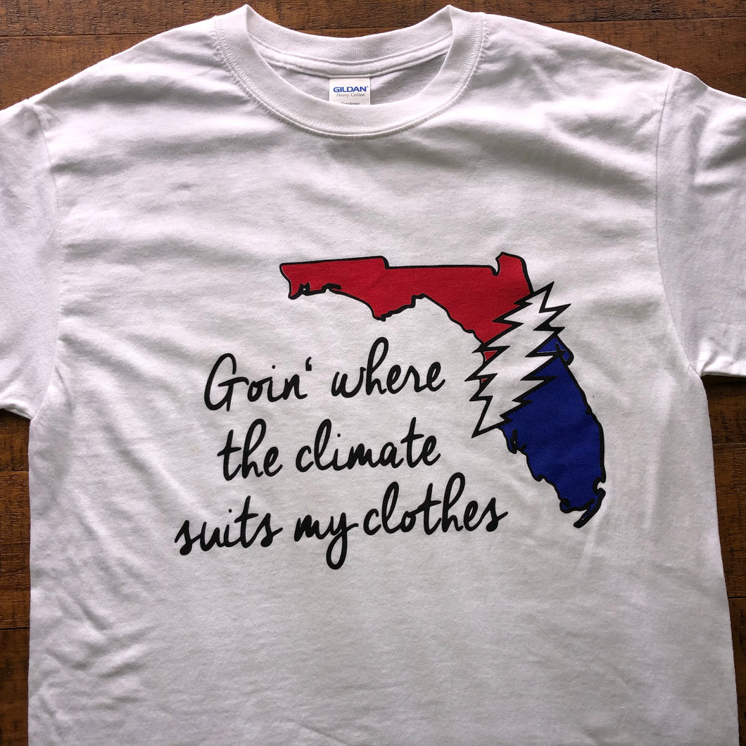 Dead Shirt-Going Down the Road Feeling Bad Florida GDTRFB-Adult Uni T Shirt Sizes S M L XL XXL