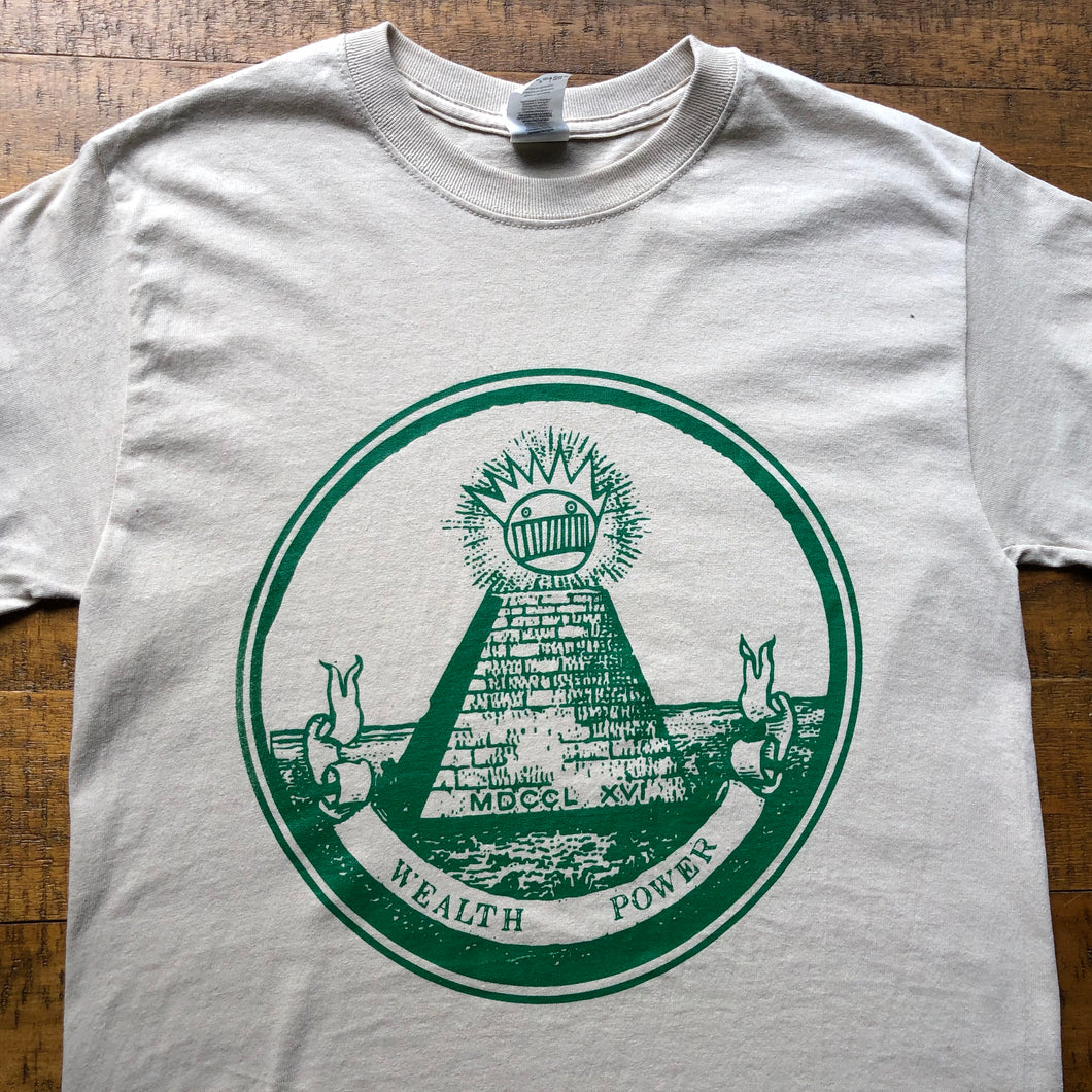 Ween Shirt-Up On Th' Hill All Seeing Boognish-Adult Uni T Shirt Sizes S M L XL XXL-Sand