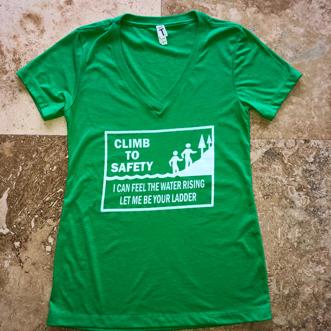 Widespread Panic Shirt-Climb to Safety-Women's V Neck-Sizes XS S M L XL 2XL