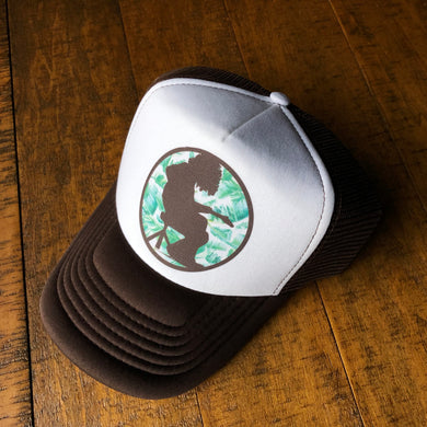 Widespread Panic Hat-Mikey Palm Leaf-Trucker Style Snapback Hat
