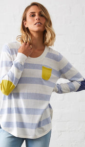 Denim Stripe Pocket Pullover