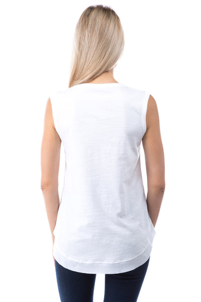 Sleeveless Raw Edge