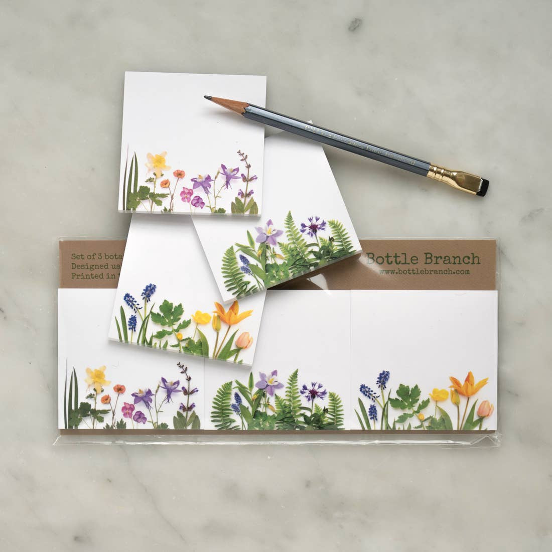 Botanical Sticky Notes 3 Pack