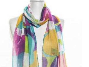 Silk Scarf Multi
