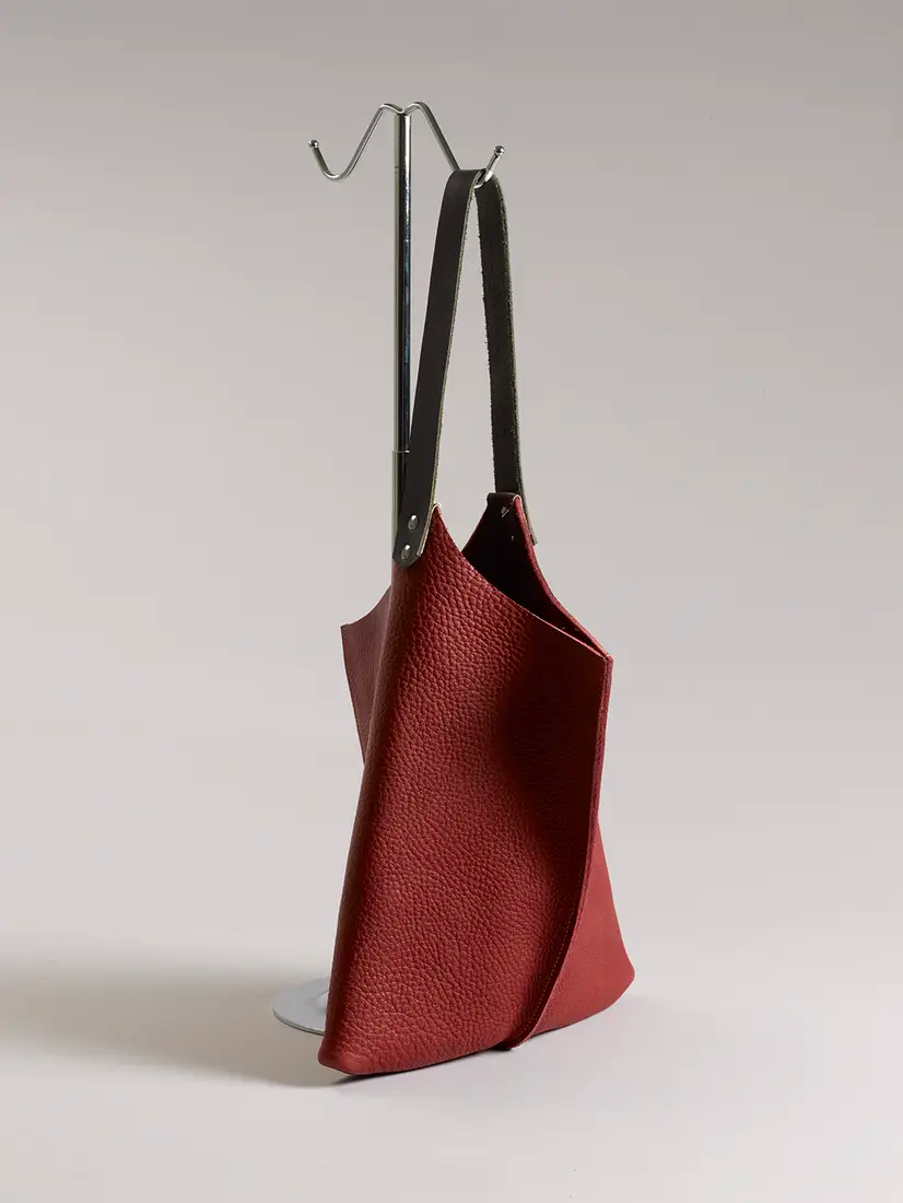 "Handmade 13"" Leather Tote"