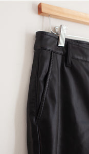 Faux Leather Split Pant
