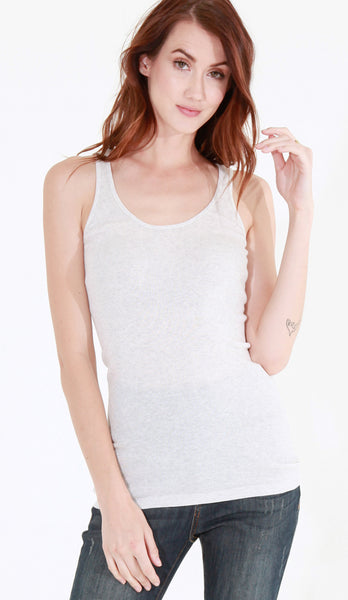 Scoop Neck Rib Tank