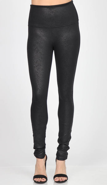 Distressed Leatherette Legging