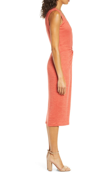 Rouched Mélange Knit Dress